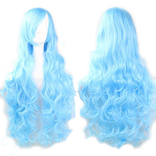 Vocaloid Sky Blue Long Curly Series Cosplay Wig Harajuku Lolita Costume - Series Lolita