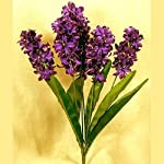 Factory-Direct-Craft-Purple-Poly-Silk-Hyacinth-Floral-Bush-for-Indoor-Decor