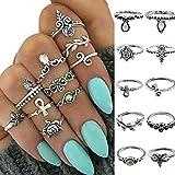 10 PCS Women Boho Sea Animals Pattern Knuckle Ring Set