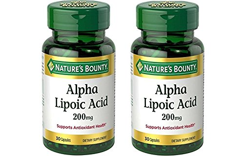 Nature's Bounty Alpha Lipoic Acid 200 mg 30 Capsules (Pack of 2) by Nature's Bounty