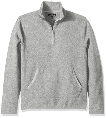 J.Crew Mercantile Men's Fleece Half-Zip Pullover, Marled Grey, L
