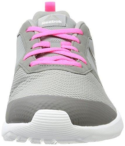 Flyer Medium Grey Grau Pewte Poison Foster Pink Laufschuhe Damen Grey Reebok Flat White ZqwU4g