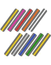 Ipow Begeleide leesstrips, 10-delige markeringsstrips gekleurde geleide leesstrips kleurrijke bladwijzer voor leeshulp met dyslexie ADHD of visuele stress