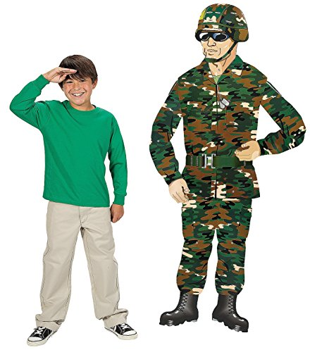 Cheap  Large Jointed Camouflage Army Guy Cutout - Party Decorations & Wall Decorations