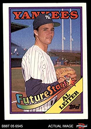 Amazoncom 1988 Topps 18 Xny Al Leiter New York Yankees