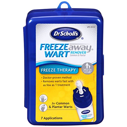 Dr. Scholl's FreezeAway Wart Remover, 7 Applications // Doctor-Proven Method, for Common and Plantar Warts