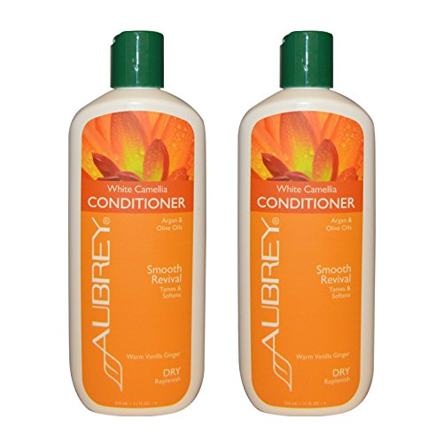 Aubrey Organics White Camellia Conditioner With Argan and Olive Oils for Dry/Replenish, 11 fl oz (325 ml) (Pack of 2) Aubrey White Conditioner