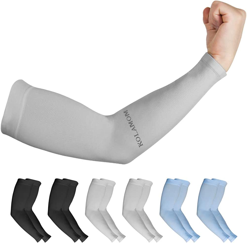 1-5 Pairs Cooling Arm Sleeves Cover UV Sun Protection Outdoor Sports Men Women