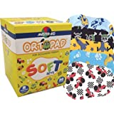 Ortopad Soft Boys Eye Patches - Patterns with Textured Accents, Regular Size (50 Per Box)