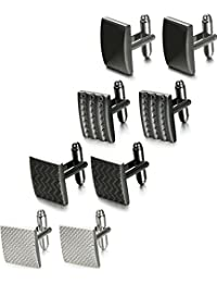 Thunaraz  4 Pairs Wedding Business Classic Cufflinks for Men Unique Cufflinks Set