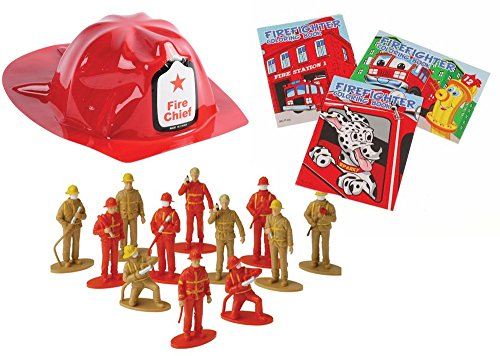 Firefighter Toy Party Favor Supplies 36 Piece Set