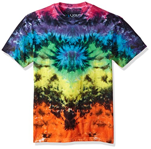 Liquid Blue Men's Butterfly Krinkle Tie Dye Short Sleeve T-Shirt, Multi Colored, XX-Large