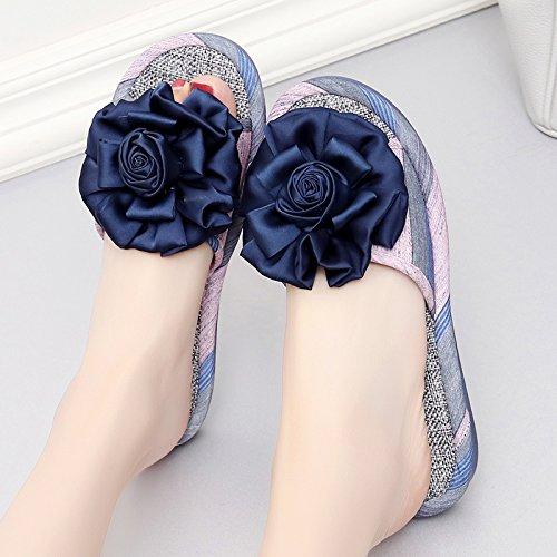antiscivolo pantofole fankou 38 cool soggiorno fitto indoor della scuro estate casa rosa Onorevoli outdoor blu home pantofole fondo nel morbido e SfSBYr