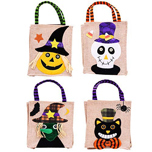Treat or Trick Halloween baskets Linen Party Gift