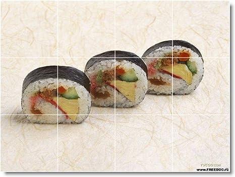 Food immagine murale bagno piastrelle f044. 32 4 x 43 2 cm con 12