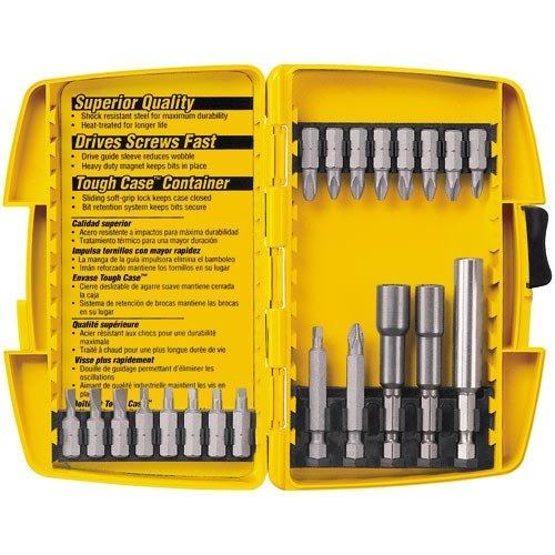 21 Piece Screwdriver Set (DEWALT DW2161 21-Piece Screwdriving and Nutdriving Set in Plastic Case)