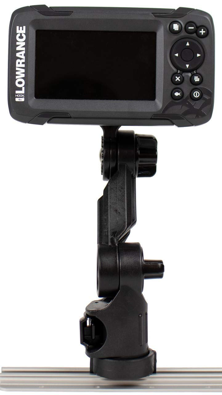 Yakattack Fish Finder Mount W/ LockNLoad Mounting System, Lowrance Hook2 4 and 5, 4'' ext
