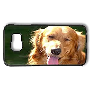 Samsung Galaxy S6 Case, Golden Retriever In The Sun Polycarbonate Plastic Hard Case Cover for Samsung Galaxy S6 Black