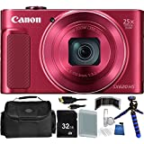 Canon PowerShot SX620 HS Digital Camera (Red) - International Version (No Warranty) 32GB Bundle 14PC Accessory Kit Which Includes Replacement NB-13L Battery, 5 Piece Camera Cleaning Kit, MORE