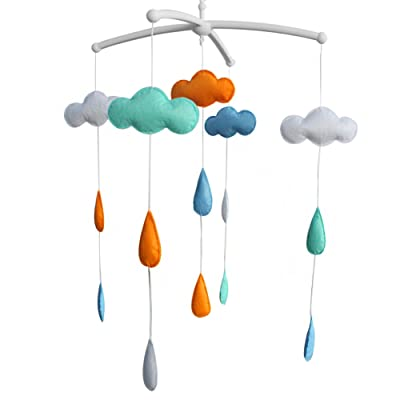 [Clouds] Crib Mobile Crib Hanging Bell Infant Musical Toy Crib Decor