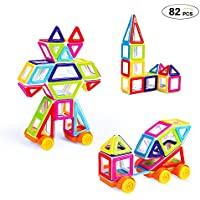 Theefun 82-Piece Magnetic Building Blocks Set