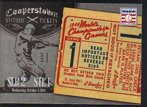 - 2013 Panini Cooperstown Historic Tickets Insert #15 1944 World Series