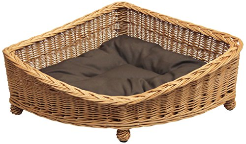 Wicker Willow Pet Corner Basket, S,M,L sizes