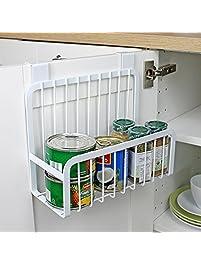 Mkono Over The Cabinet Door Organizer Kitchen Basket Holder White