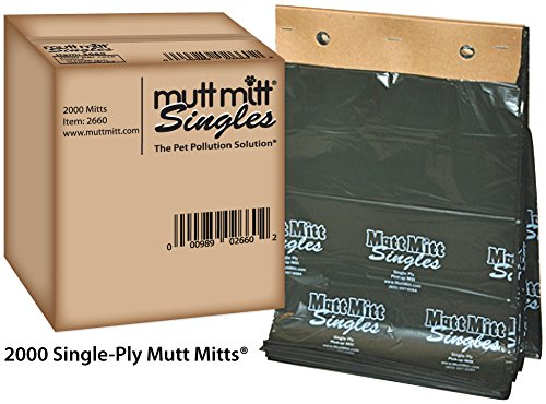 Mutt Mitt Singles - 2000 per Case - Item#: 2660
