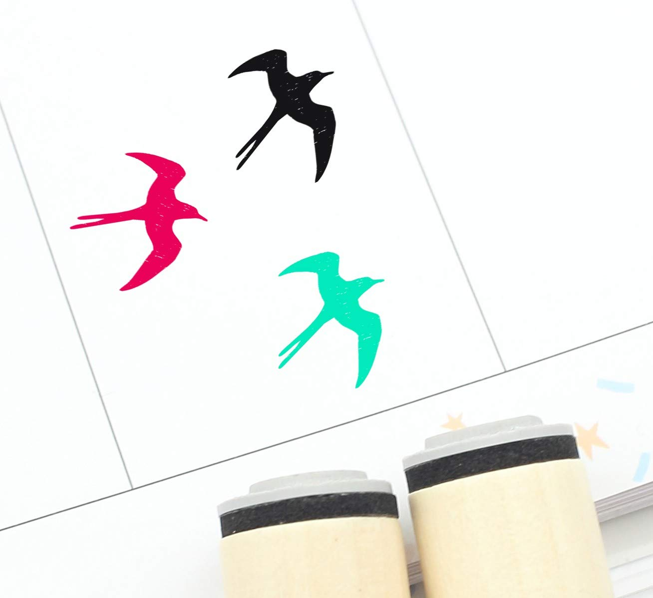 20mm Mini Stamps 16mm Swallow Rubber Stamp S829 Planner Stamp Bird Stamp Cute Swallow Stamp