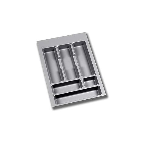 EMUCA - Cubertero Recortable para cajón, Bandeja para Cubiertos cajón Ancho módulo 60cm