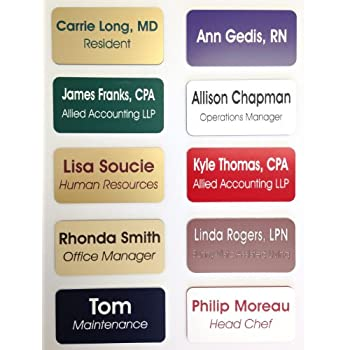 Amazoncom Name Badges Name Tags Magnetic Or Pin Closure - Target employee name tag template