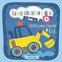 Libro colorear niños 2 años + Coche, barco