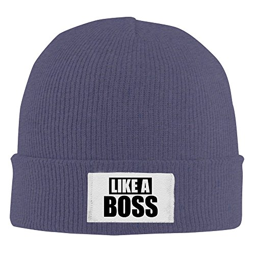 Like A Boss Unisex Funny Navy Skullies Winter Kniting Hat One Size