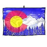 Jinyimingpi Flag Of Colorado Golf Towel Sports Microfiber 23x14 Inches Player Towel