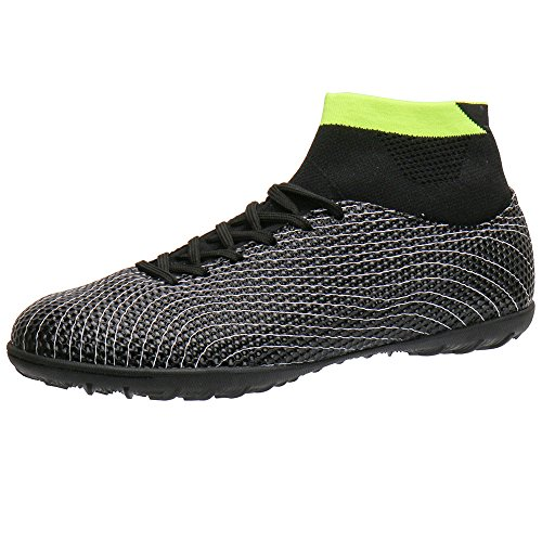 2b0fb4a61f5 Aleader Boy s Athletic Turf Indoor Soccer Shoes Football Boots Black 2 M US  Little Kid - Buy Online in Oman.