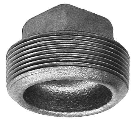 "Anvil International 0318902566 Cast Iron Cored Square Head Plug, 2"", Black from Anvil International"