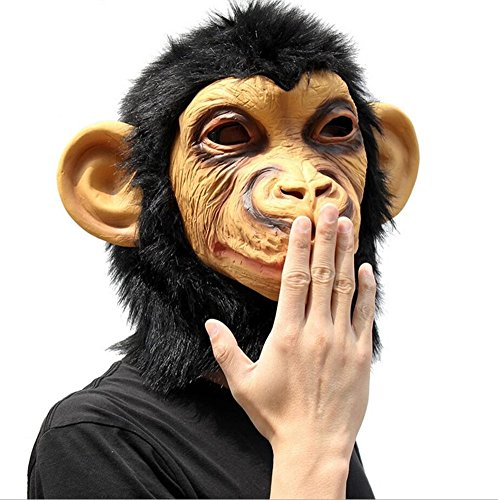 Realistic Jeepers Creepers Costume For Sale (QTMY Latex Rubber Grotesques Ugly Horrible Apes Gorilla Monkey Mask with Hair for Halloween Party Costume (3))