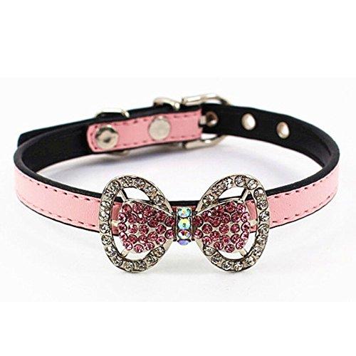 JK Crystal Rhinestones Leather Necklace