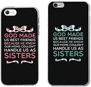 iPhone 5 5S SE 6/6S Couple Case for Best Friend-TTOTT Floral God ...