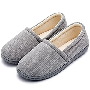 Cozy Niche Women's Knitted Vertical Stripe Shoes, Spring Summer Memory Foam Indoor/Outdoor House Slippers