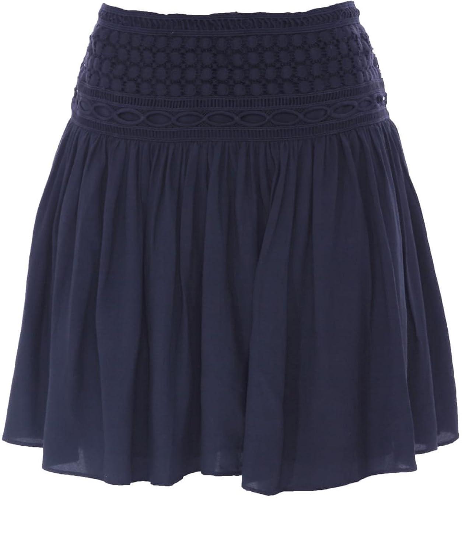 Hunkydory Lomita Embroidered Skirt Midnight