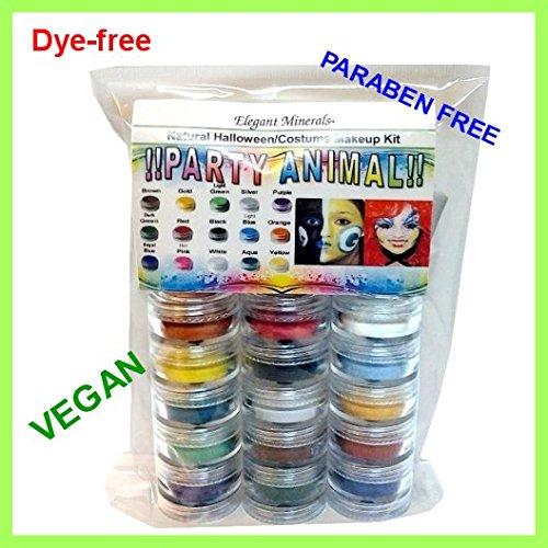 15 Colors Natural Face Paint Makeup Kit PARABEN-free,DYE-free VEGAN Halloween Set]()