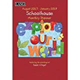Lang - 2018 Monthly Planner -''Schoolhouse'', Artwork by Susan Winget - 13-Month: January 2018 - January 2019-8.5'' x 12''