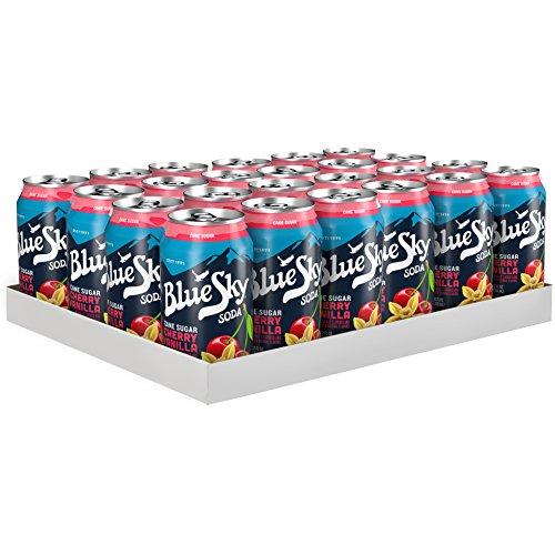 Blue Sky Soda - Blue Sky Cane Sugar Soda, Cherry Vanilla, 12 Ounce (Pack of 24)