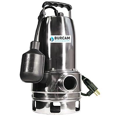 BURCAM 300527 3/4 HP Stainless Steel Submersible Sump Pump,