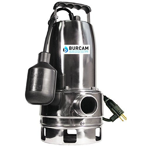 Bur-Cam 300527 3/4 Horsepower Stainless Steel Submersible Sump Pump, 5V, Stainless Steel (Steel Sump Pump Stainless)