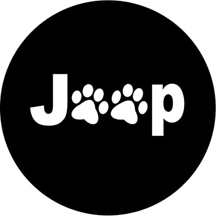 Tire Cover Central Jeep Paws Tire Cover for 235/80r16 Jeep RV Trailer etc  (Select from Popular Sizes in Drop Down menu or Contact us Authentic