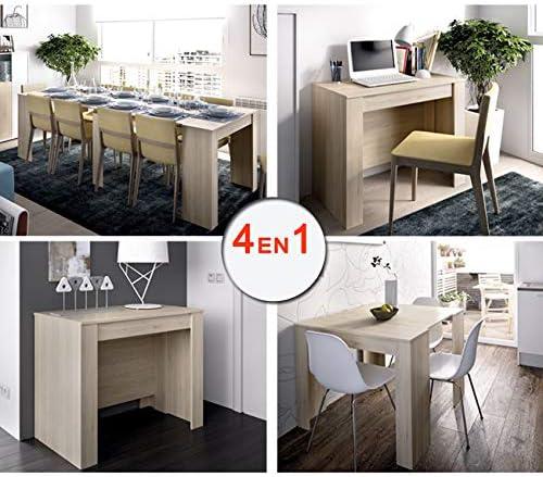 HABITMOBEL Mesa Consola Extensible de Comedor o Mesa Cocina, de 54 ...
