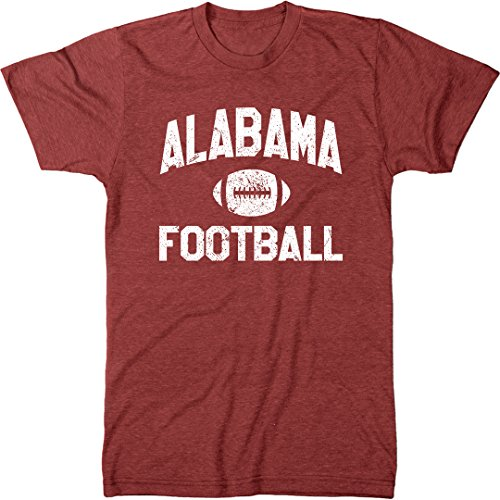 Trunk Candy Alabama Football Men's Modern Fit T-Shirt (Vintage Red, X-Large)